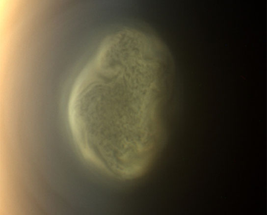 true color image of Saturn's moon Titan