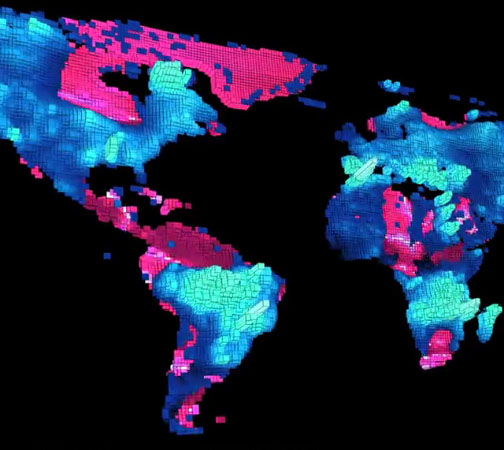 visualization of global groundwater depletion