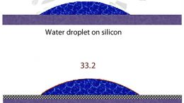 Drops of Water on Silicon / Graphene Covered Silicon
