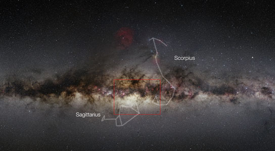 Wide-field view of the Milky Way