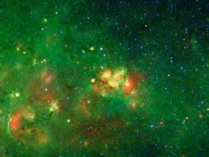 working on the Milky Way Project, scanning a vast collection of infrared images from NASA's Spitzer Space Telescope