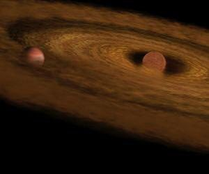 young brown dwarf star with its dusty disk