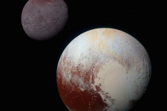 A Dynamic Duo Pluto and Charon in Enhanced Color