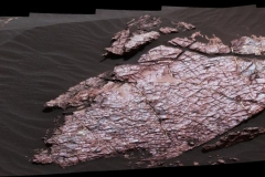 View of a Martian Rock Slab Called Old Soaker