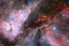 Panoramic View of the WR 22 and Eta Carinae