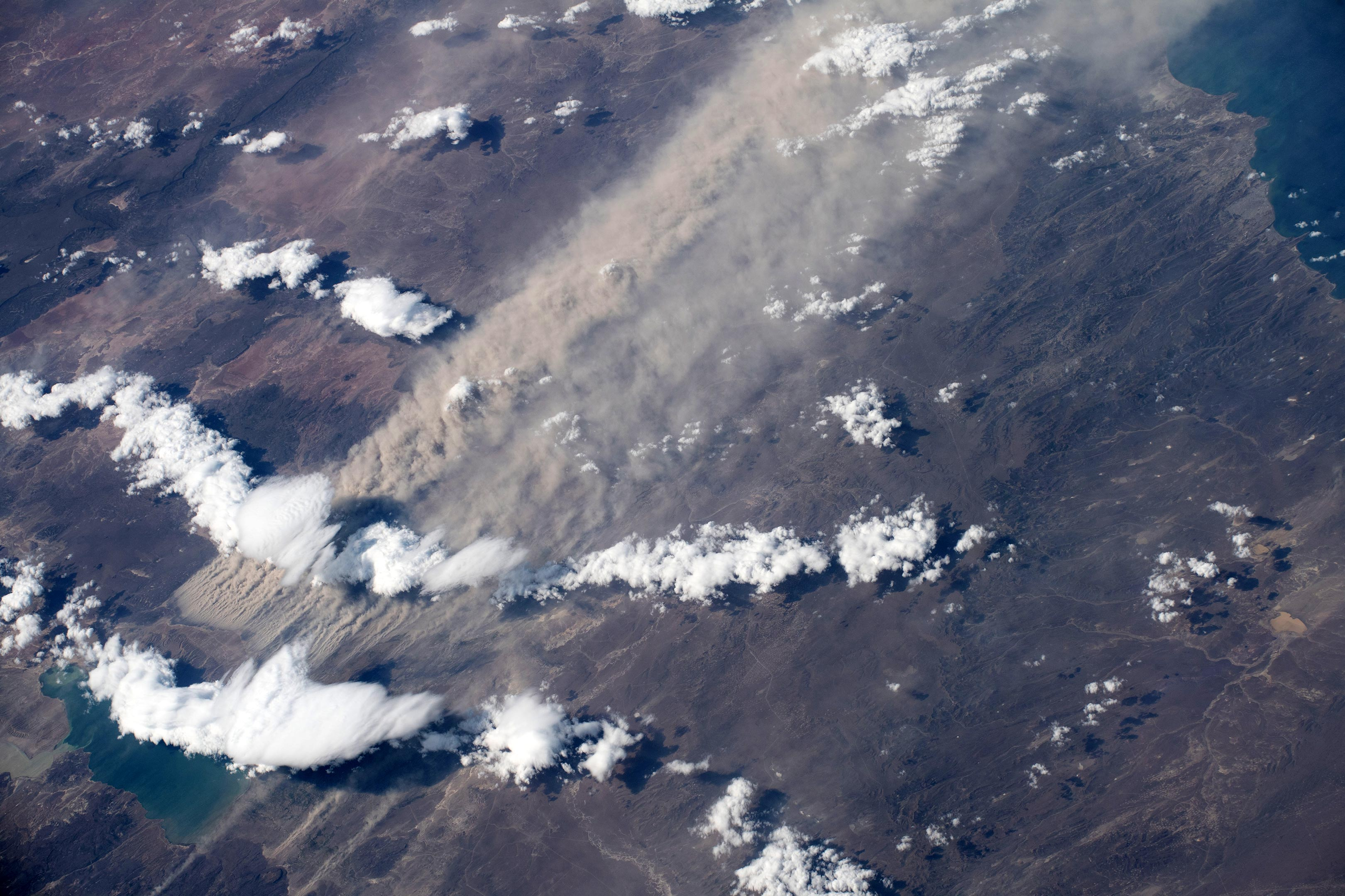 Dust Plume Over Southern Argentina