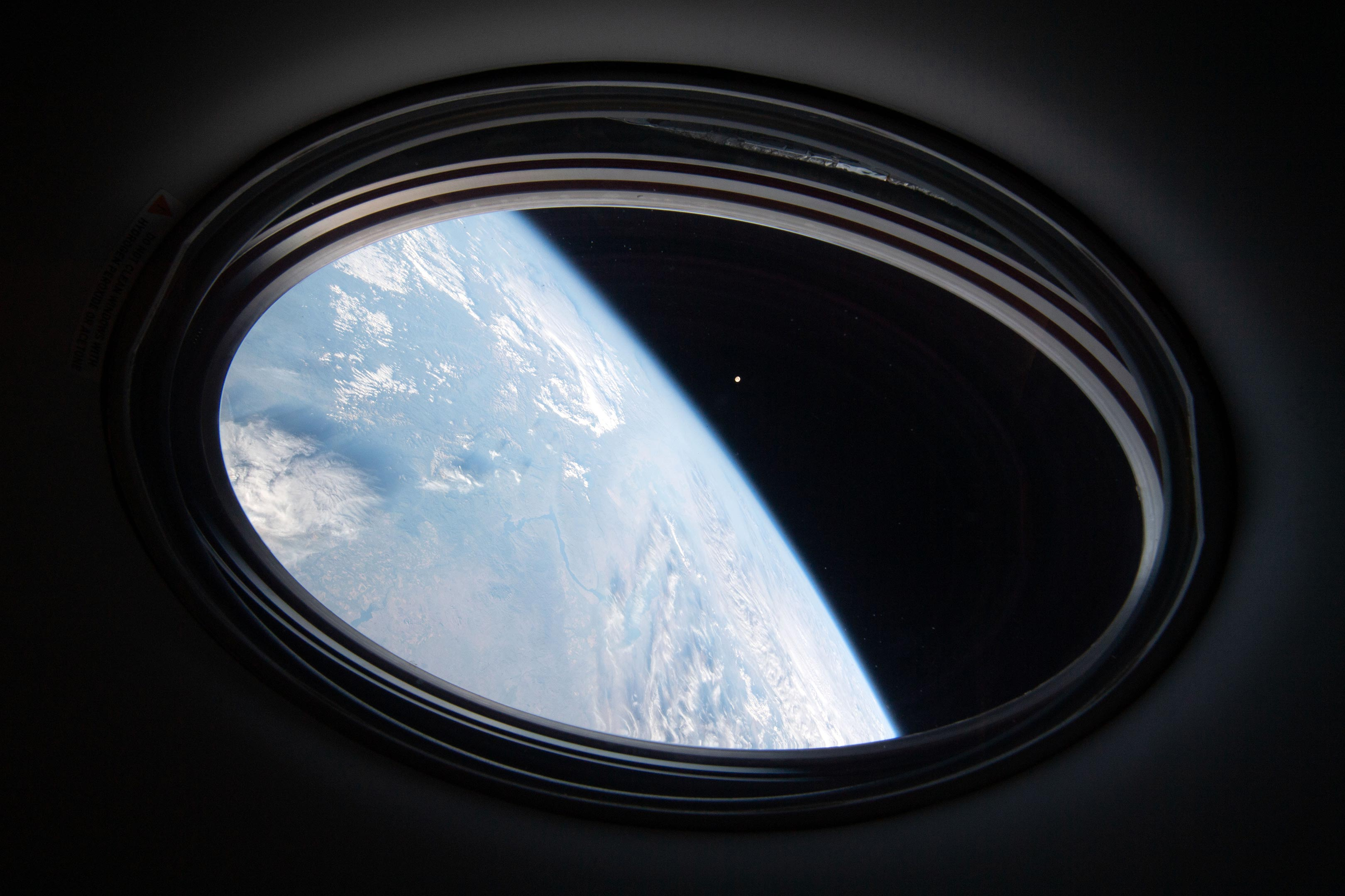 Earth and Moon From Crew Dragon