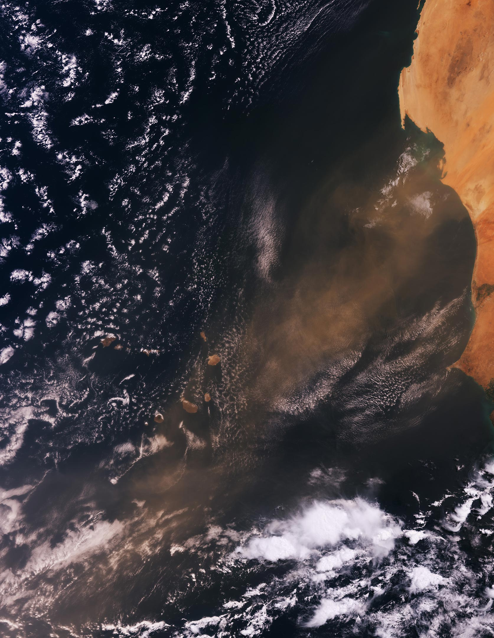 Dust Particles Over Cabo Verde