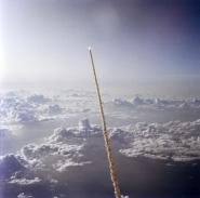 STS-7 Shuttle Launch High Angle View