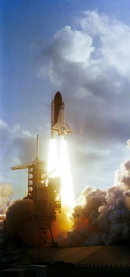 STS-7 Shuttle Liftoff