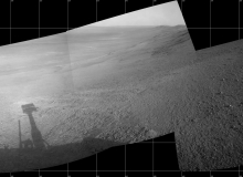 Mars Rover Panorama Above Perseverance Valley