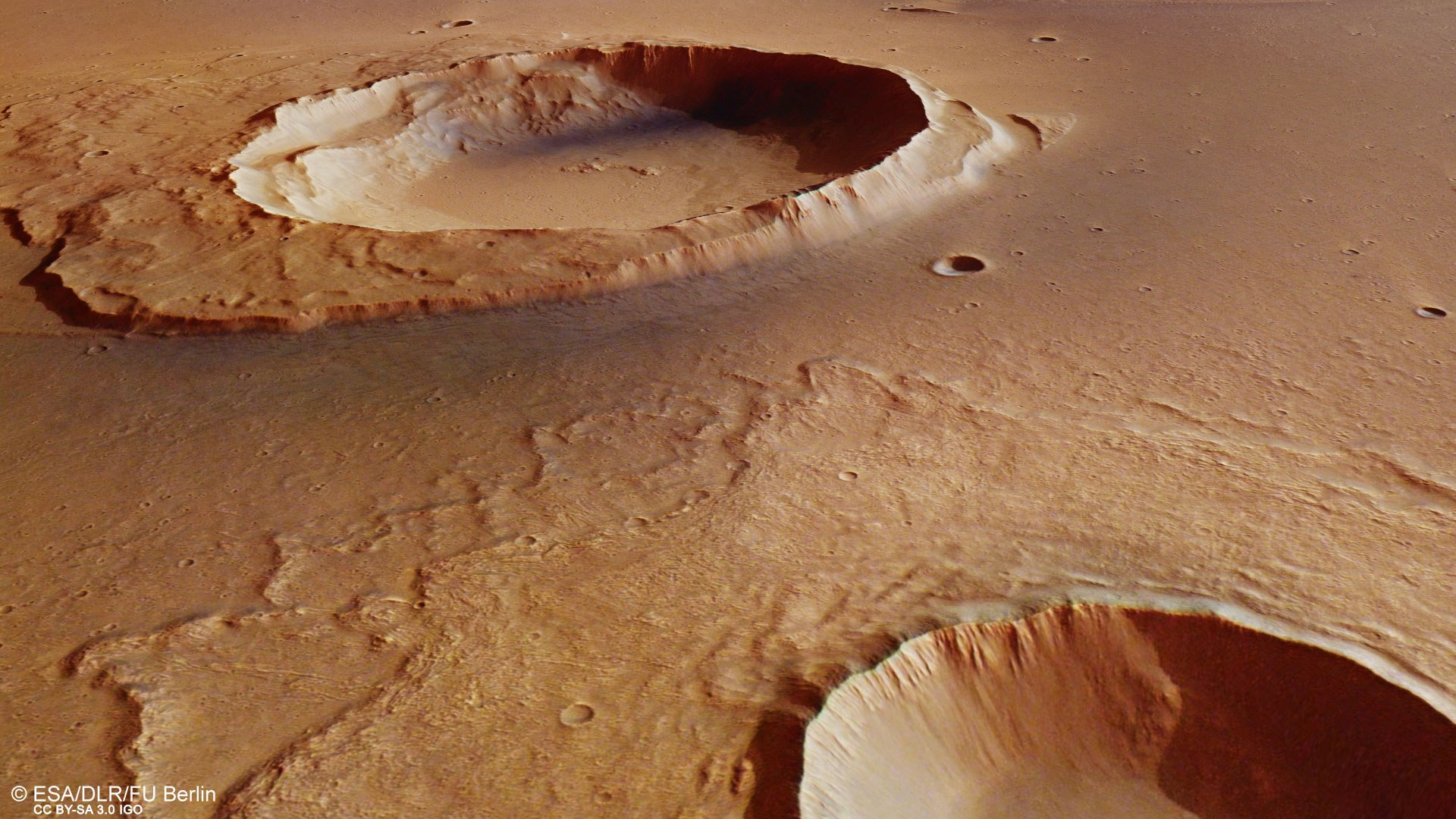 Perspective View Towards Worcester Crater